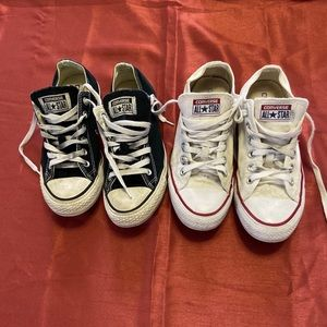 Convers All stars 2 pairs black and white SZ 7&8